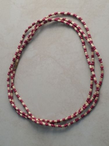 Tulsi Neck Beads Mixed With Brown Beads [Three loops around the neck]